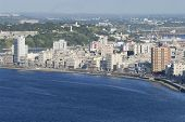 Aerial view of the Havana city, Cuba.