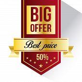 Big Offer sales label