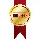 Big Offer golden sales label