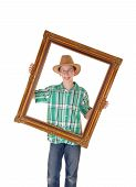 Boy With Picture Frame.