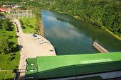 picture of hydroelectric power  - Hydroelectric power plant on Lake Solina  - JPG