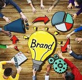 Aerial View People Brand Innovation Trademark Symbol Concepts