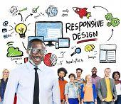 Responsive Design Internet Web Online People Leadership Concept