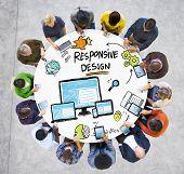 Responsive Design Internet Web Online Communication Technology Concept