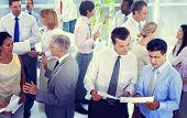 stock photo of team  - Business People Conversation Communication Talking Team Concept - JPG
