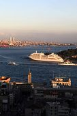 View Of Cruise Ship In Golden Horn
