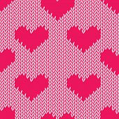 Knitting hearts simple seamless vector print