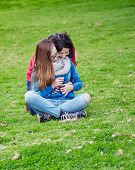Mother and Daughter Outdoors in Spring