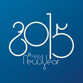a blue background with a happy new year message