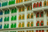 Heritage Colourful Windows In Singapore