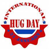 International Hug Day label