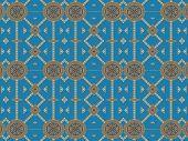 Ethnic Pattern Abstract Kaleidoscope Fabric Design.