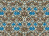 Ethnic Pattern. Abstract Kaleidoscope  Fabric Design.