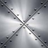 metal plate with tack pattern