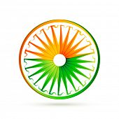 indian flag wheel design made with tri colors