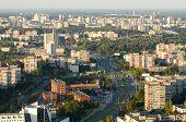 VILNIUS, LITHUANIA - 17 SEPTEMBER, 2014: Aerial view of Vilnius