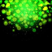 Abstract Green Bokeh Effect Background