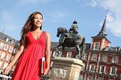 Madrid - Woman On Plaza Mayor