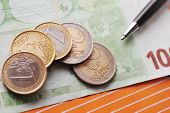 Black Pen And Money