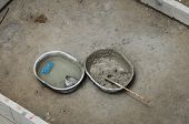 Mixed Concrete In The Bowl