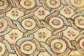 Mosaic Tile Floor in Caesarea Maritima National Park