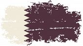 Qatari grunge flag. Vector illustration.