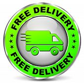 Free Delivery Green Circle Icon