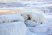 image of mammoth  - Canary Spring Mammoth hot spring terraces Yellowstone National Park Wyoming - JPG