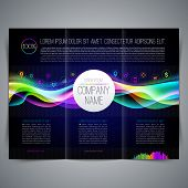 Vector template page design, brochure, leaflet, with colorful abstract shape and business icon