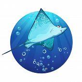 Cartoon drawing of a fish ramp.