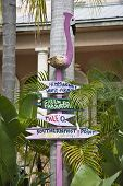 KEY WEST, FLORIDA-MARCH 23, 2009:  It is easy to find your way around in Key West using whimsical signs like this.