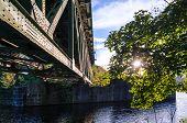 Sunlight, Railway Bridge, River