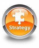 Strategy Glossy Orange Round Button