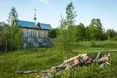 Small Wooden Church At Sergeevo, Palekh, Vladimir Region, Russia