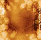 Valentines Day Abstract Background With Bokeh Lights And Stars