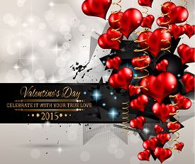 stock photo of dinner invitation  - San Valentines Day background for dinner invitations - JPG