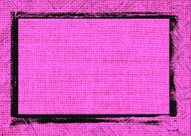 picture of heliotrope  - Closeup burlap heliotrope color textured background with black frame design - JPG