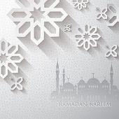 image of ramadan mubarak card  - Ramadan greetings  - JPG