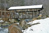 Buladean Covered Bridge in Snow