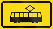 picture of tram  - Road sign in Finland  - JPG