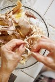 foto of chickens  - Shredded chicken for the ingredient for Soto - JPG