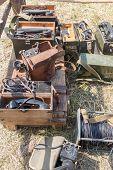 image of nazi  - communications equipment lying on the ground - JPG