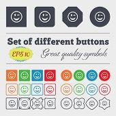 pic of eye-wink  - Winking Face icon sign Big set of colorful diverse high - JPG