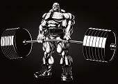 stock photo of strongman  - Vector illustration - JPG