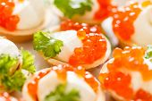 picture of canapes  - canape with caviar - JPG