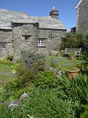 picture of crippled  - Rustic house and garden photographed at Tintagel in Cornwall - JPG