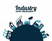 stock photo of polution  - industry design over blue background - JPG