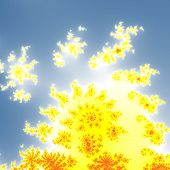 pic of mandelbrot  - Fractal floral pattern texture on blue background - JPG