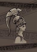 pic of sparta  - Athena drawing vector illustration set art sign - JPG