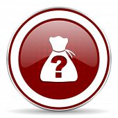 foto of riddles  - riddle red glossy web icon - JPG